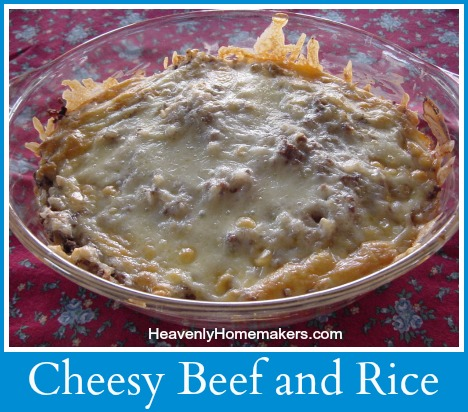Cheesy Beef and Rice