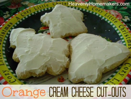 Orange Cream Cheese Cut Outs