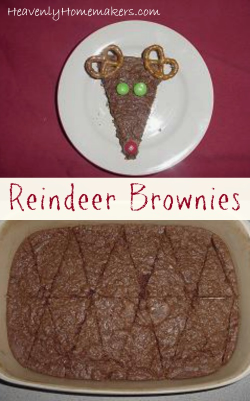 Reindeer Brownie Treat