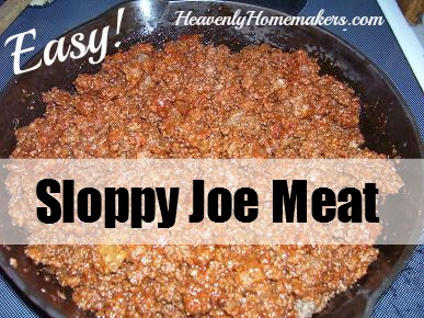 Easy Sloppy Joe Meat