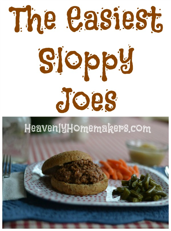 The Easiest Sloppy Joes
