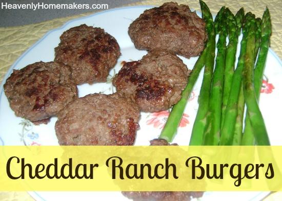 Cheddar Ranch Burgers