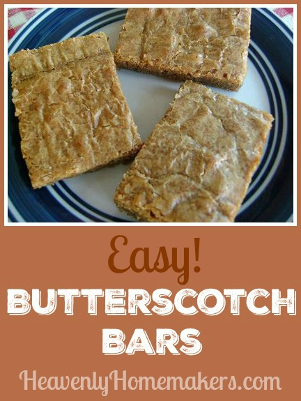 Easy Butterscotch Bars - Five Ingredients!
