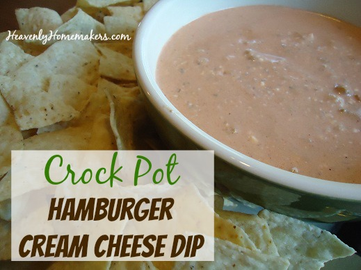 Crock Pot Hamburger Cream Cheese Dip