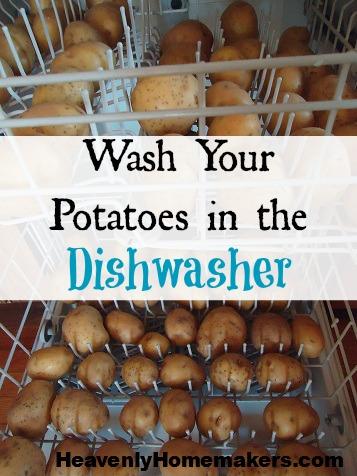 Wash Potatoes in the Dishwasher