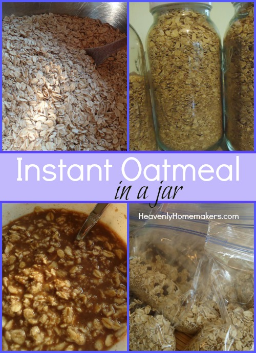 Instant Oatmeal in a Jar