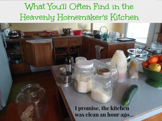 Heavenly Homemaker's Messy Kitchen