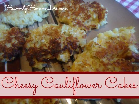 Cheesy Cauliflower Cakes
