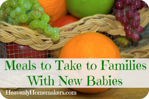 Meals to Take to Famililes With New Babies