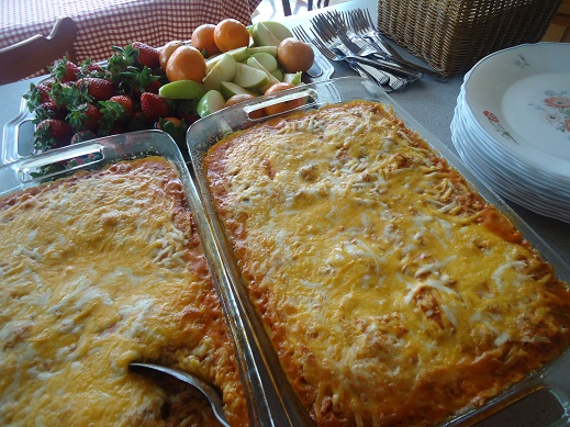creamy salsa enchiladas