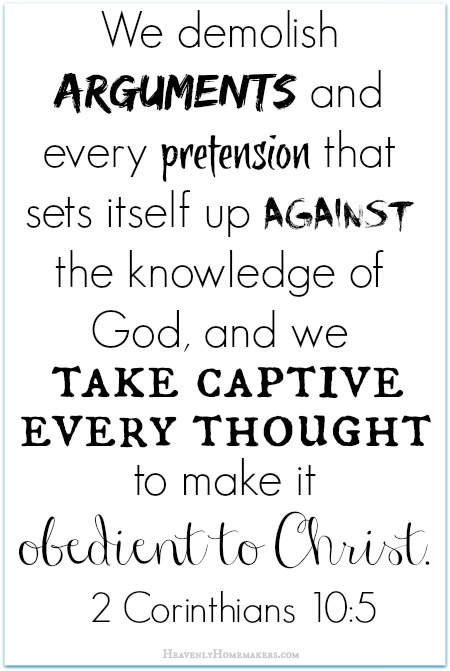 Take Every Thought Captive