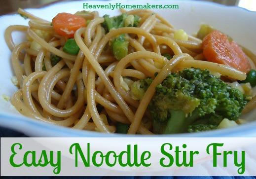 Easy Noodle Stir Fry