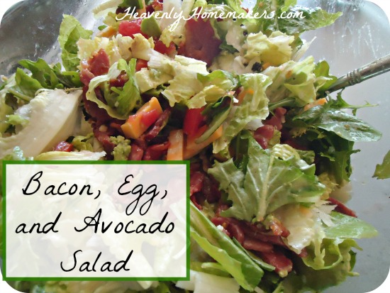 Bacon, Egg, and Avocado Salad
