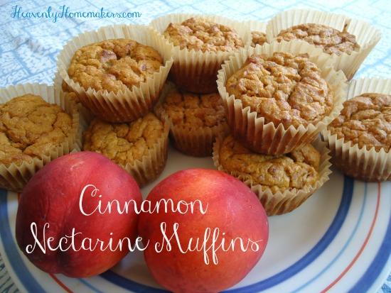 Cinnamon Nectarine Muffins
