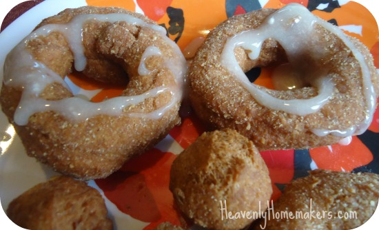 Whole Wheat Pumpkin Donuts with Glaze