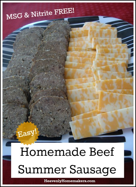 Homemade Beef Summer Sausage - Easy and Healthy!