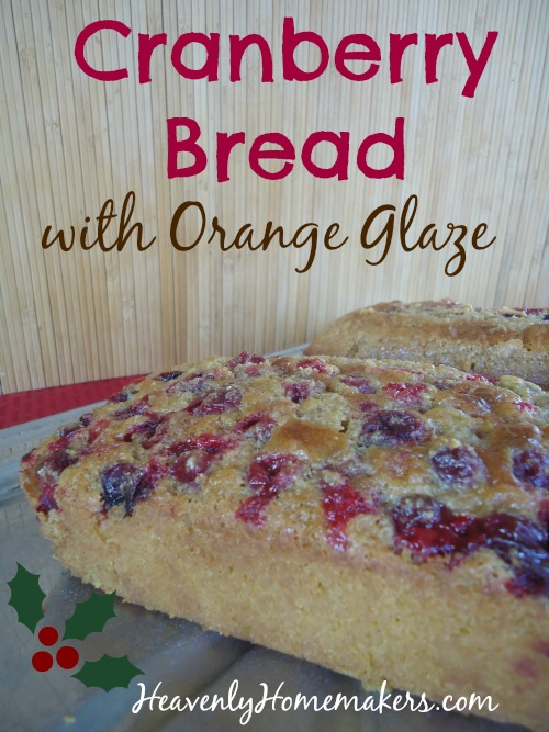 Cranberry Bread with Orange Glaze