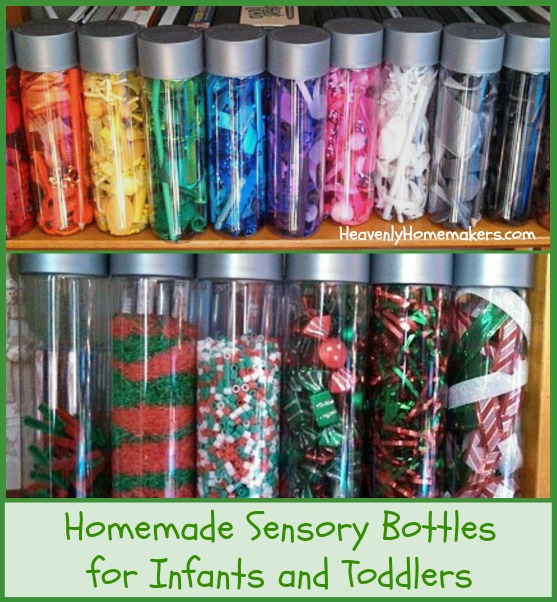 Homemade Sensory Bottles for Infants and Toddlers