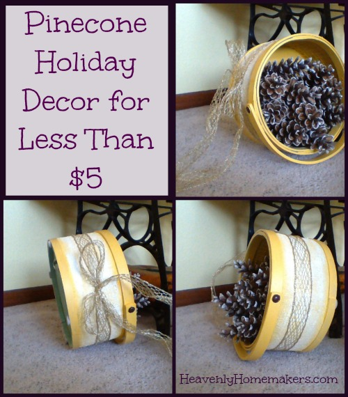 Pinecone Holiday Decor for Less Than $5