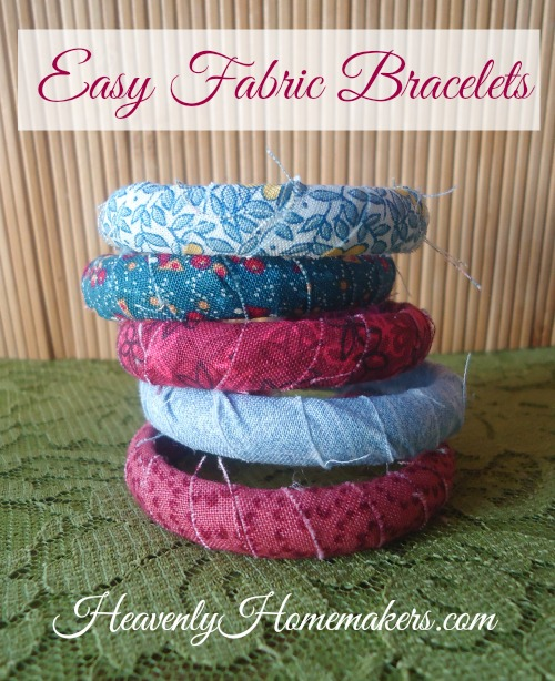 Quick and Easy Fabric Bracelets
