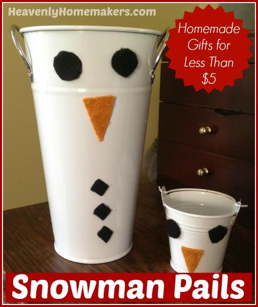 Snowman Pails - Less Than $5