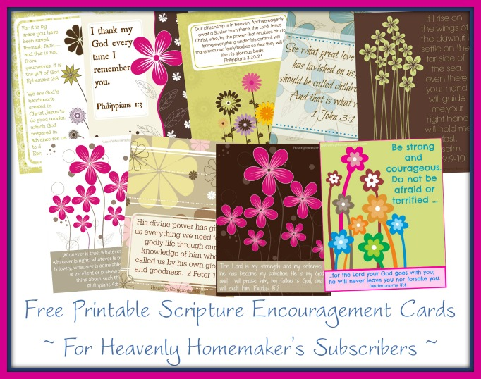 Free Scripture Encouragement Cards