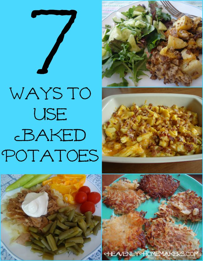 7 Ways to Use Baked Potatoes