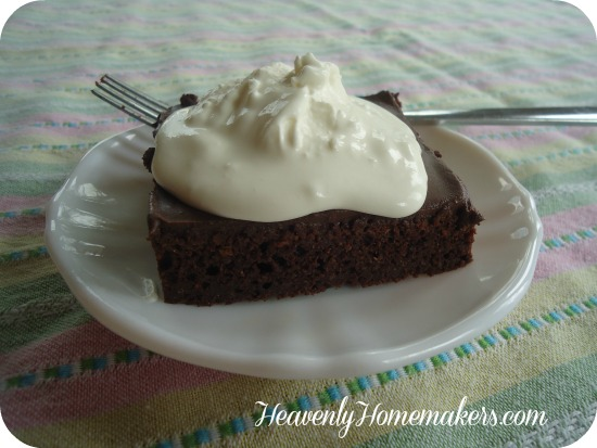 Low Sugar Chocolate Cake with Honey Sweetened Frosting