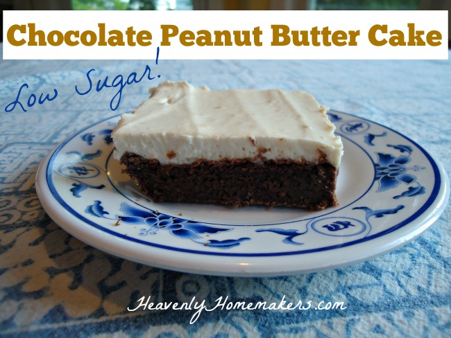 Low Sugar Chocolate Peanut Butter Cake