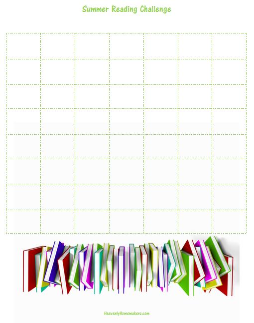 Summer Reading Challenge Blank 2