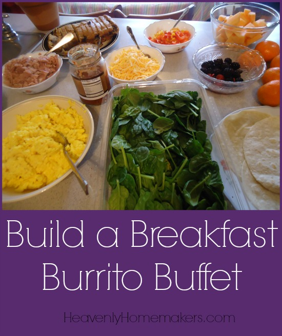 Build a Breakfast Burrito Buffet
