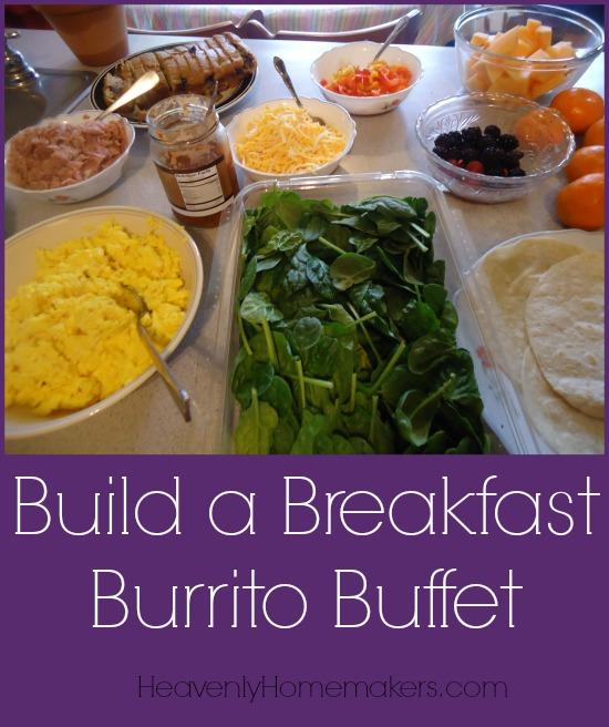 Build a Breakfast Burrito Buffet