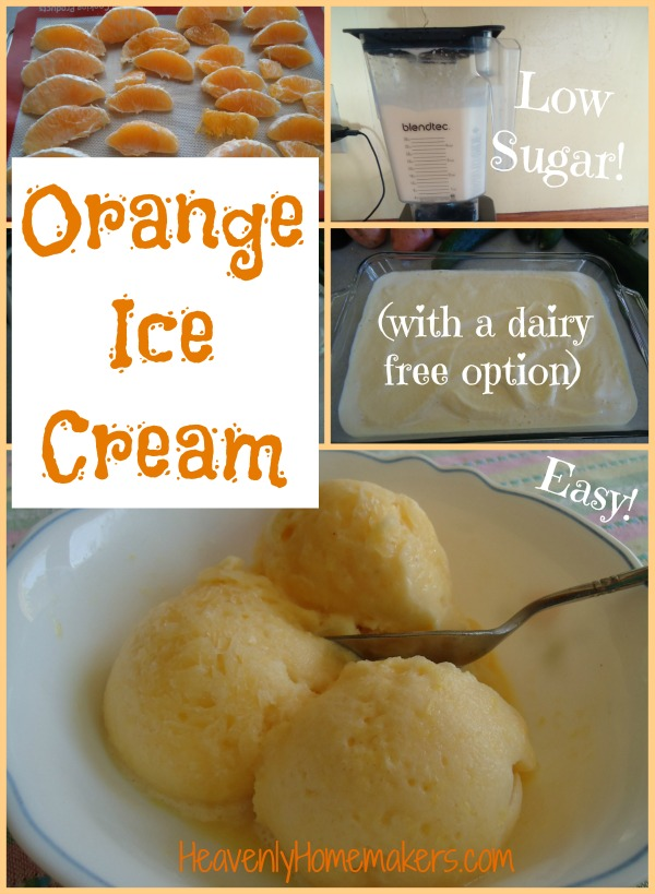 Orange Ice Cream with dairy free option!