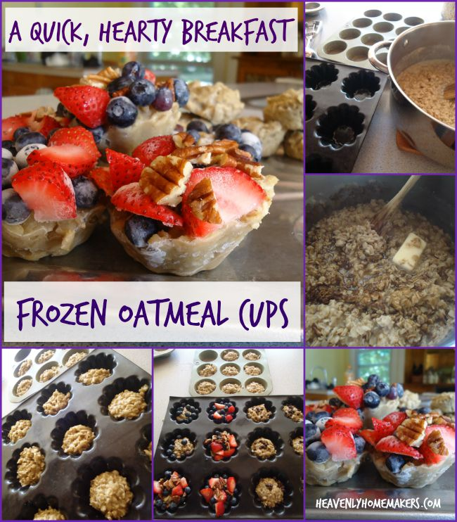 Frozen Oatmeal Cups - a quick, hearty breakfast