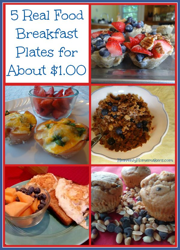 5 Real Food Breakfast Plates for About $1.00