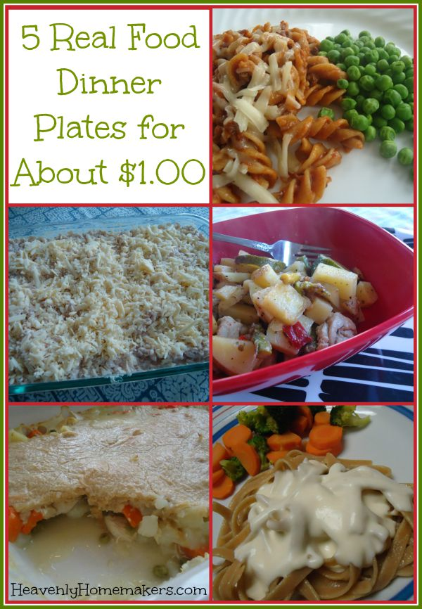 5 Real Food Dinner Plates for About $1.00