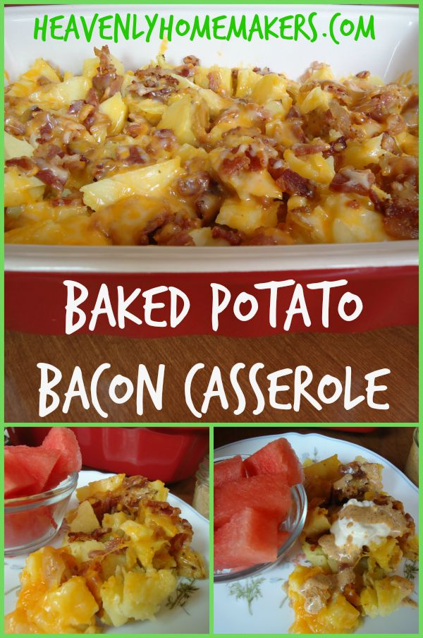 Baked Potato Bacon Casserole