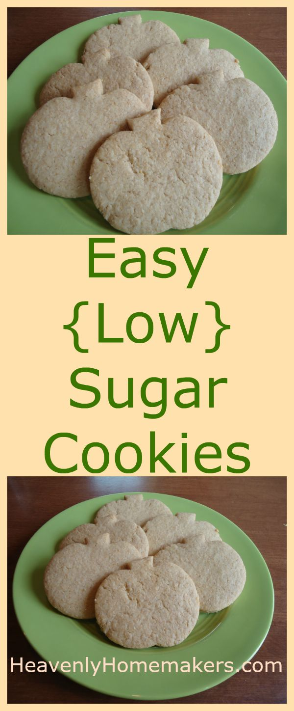 Easy (Low) Sugar Cookies