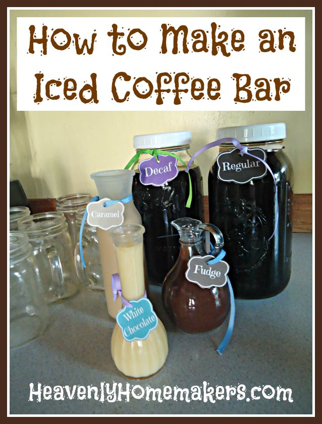 How to Make an Iced Coffee Bar