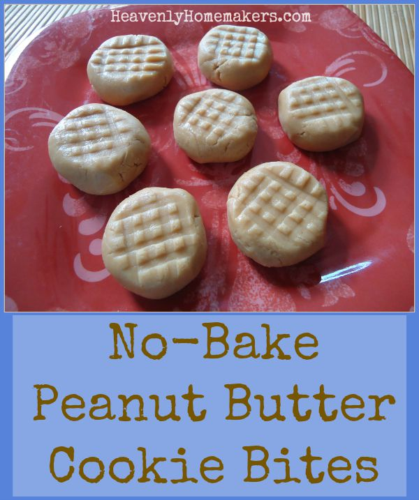 No-Bake Peanut Butter Cookie Bites