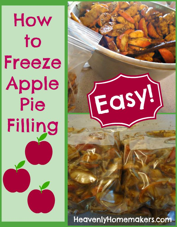 How to Freeze Apple Pie Filling