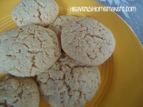 Low Sugar Lemon Melt-away Cookies