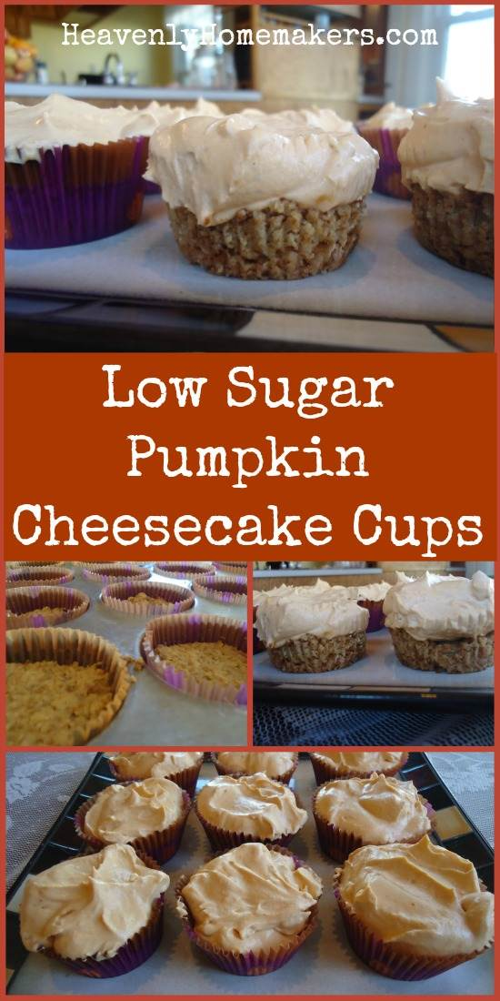 Low Sugar Pumpkin Cheesecake Cups