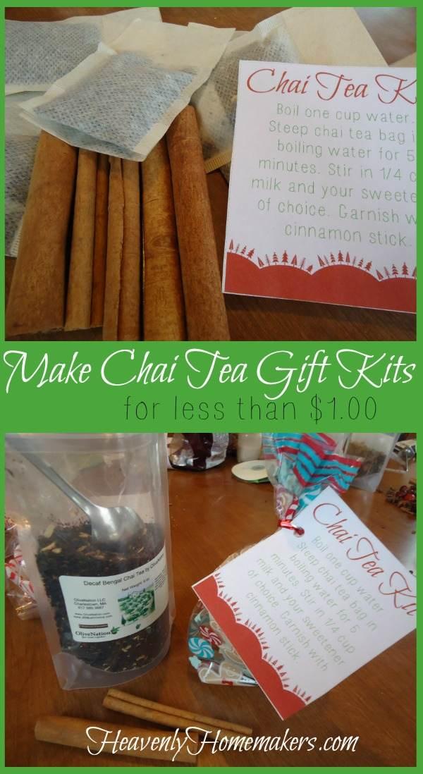 Make Chai Tea Gift Kits for Less Than $1.00