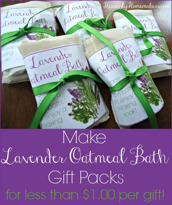 Make Lavender Oatmeal Bath Gift Packs for Less Than $1.00 Per Gift