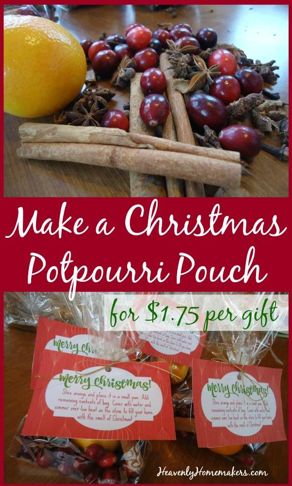 Make a Christmas Potpourri Pouch for $1.75 Per Gift