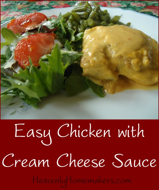 Easy Chicken with Cream Cheese Sauce Recipe