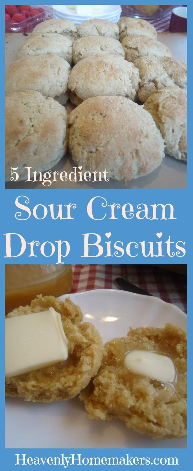 5 Ingredient Sour Cream Drop Biscuits
