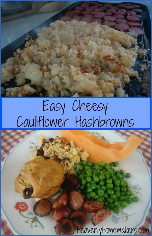 Easy Cheesy Cauliflower Hashbrowns