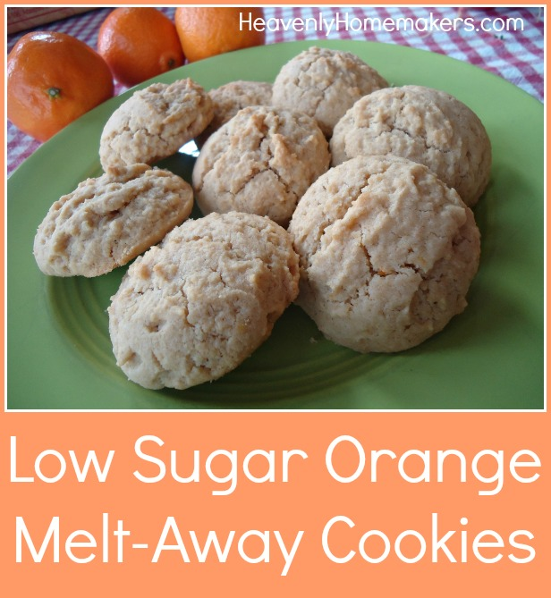 Low Sugar Orange Melt-Away Cookies